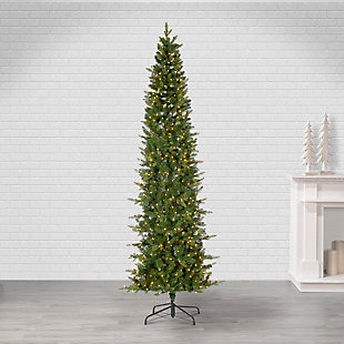 Sterling 9Ft. Natural Cut Narrow Saginaw Pine with 650 Clear Lights, , large