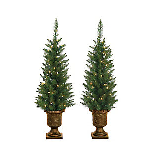 Sterling 3.5ft. Potted Norway Pine with 50 Clear Lights (Set of 2), , large