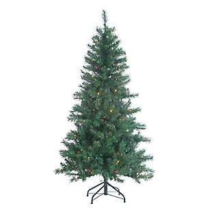 Sterling 5Ft. Pre-Lit Colorado Spruce with 200 Multi-colored Lights, , rollover