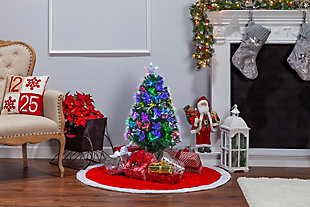 Sterling 3-Foot High Fiber Optic Color-Changing Tree, , rollover