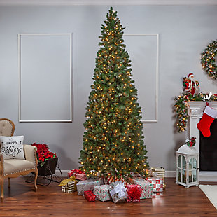 Sterling 9Ft. Natural Cut Slim Montgomery Pine with 800 Clear lights, , rollover