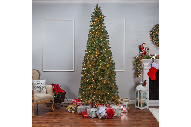 Sterling 9Ft. Natural Cut Slim Montgomery Pine with 800 Clear lights, , large