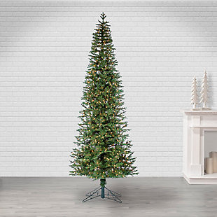 Sterling 10-Foot High Pre-Lit Natural Cut Narrow Jackson Pine with Clear White Lights, , rollover