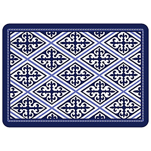 "Bungalow Premium Comfort Deep Blue Diamond 22""x31"" Mat, , large"