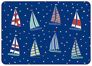 "Bungalow Premium Comfort Dreamboat Navy 22""x31"" Mat, , large"