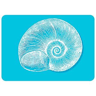 "Bungalow Premium Comfort Nautical Snail Turquoise 22""x31"" Mat, , rollover"