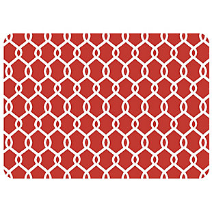 "Bungalow Premium Comfort Chain Link Red 22""x31"" Mat, , large"