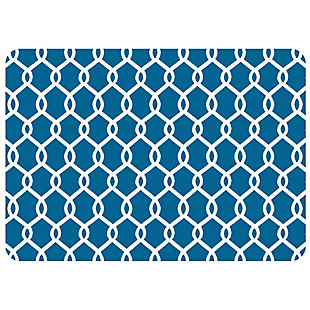 "Bungalow Premium Comfort Chain Link Williamsburg Blue 22""x31"" Mat, , large"
