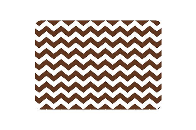 "Bungalow Premium Comfort Chevron Chocolate 22""x31"" Mat, , large"