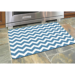 "Bungalow Premium Comfort Chevron Williamsburg Blue 22""x31"" Mat, , rollover"