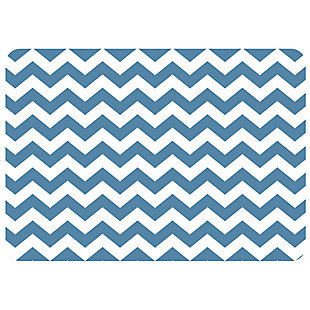 "Bungalow Premium Comfort Chevron Williamsburg Blue 22""x31"" Mat, , large"