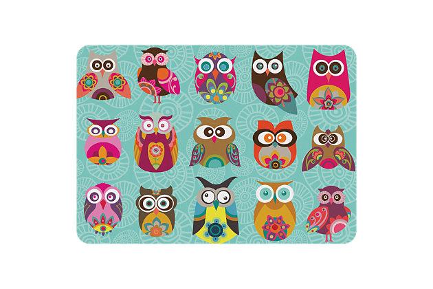 "Bungalow Premium Comfort Valentine Owls 22""x31"" Mat, , large"