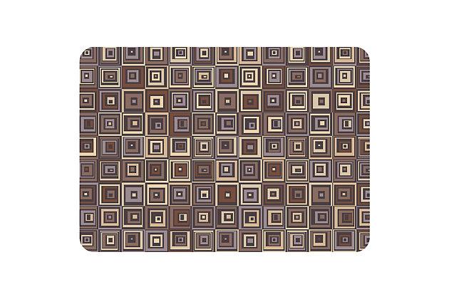 "Bungalow Premium Comfort Pebble Tile Chocolate 22""x31"" Mat, , large"