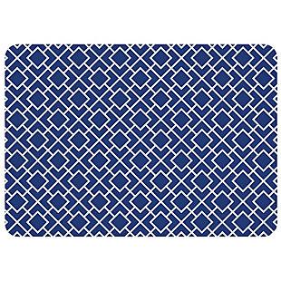 "Bungalow Premium Comfort Tazekka Grid Blue 22""x31"" Mat, , large"