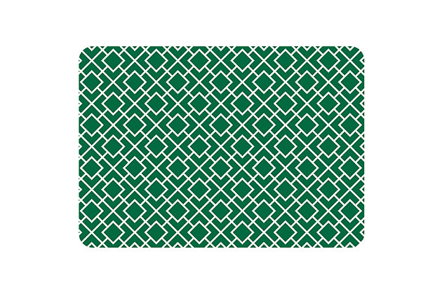 "Bungalow Premium Comfort Tazekka Grid Green 22""x31"" Mat, , large"