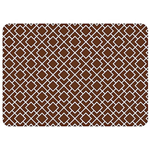 "Bungalow Premium Comfort Tazekka Grid Chocolate 22""x31"" Mat, , large"