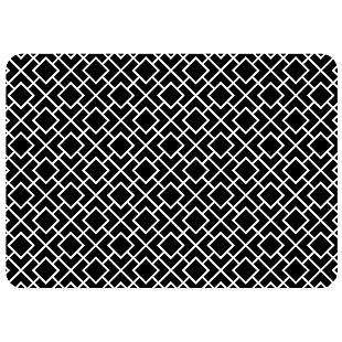 "Bungalow Premium Comfort Tazekka Grid Black 22""x31"" Mat, , large"