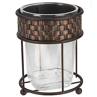 Home Accents Basket Weave Tumbler, , rollover