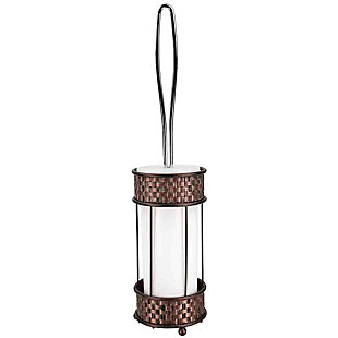Home Accents Basket Weave Toilet Brush Holder with Removable Plastic Insert, , large