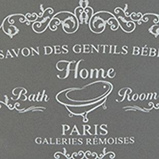 Home Accents 4 Piece Paris Bath Accessory Set, Gray, large