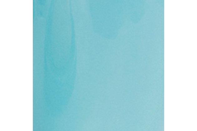 Home Accents 4 Piece Bath Accessory Set, Turquoise, large