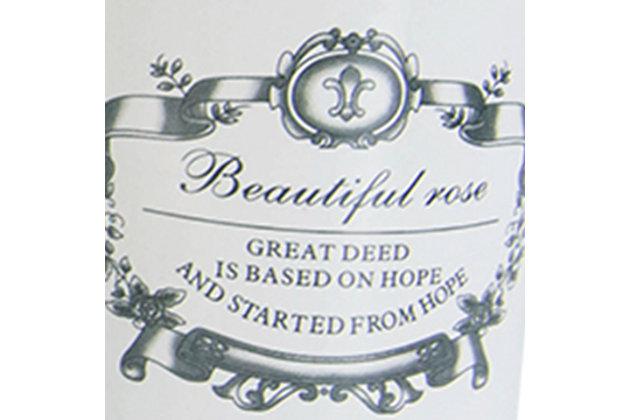 Home Accents Beautiful Rose 4 Piece Dolomite Bath Accessory Set, , large
