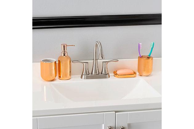 Home Accents 4 Piece Ceramic Bath Accessory Set, , large
