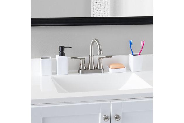 Home Accents Loft 4 Piece Ceramic Bath Accessory Set, , large