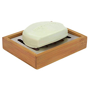 Home Accents Bamboo Soap Holder, , large