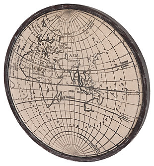 Home Accents World Map Wall Art, , large