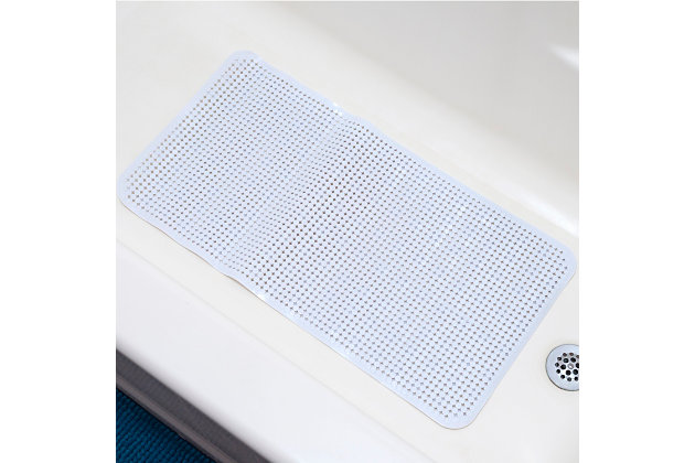Home Accents Anti-Slip Spa-Comfort Dotted Plastic Bath Mat, , large