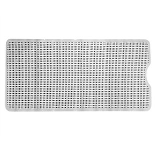 Home Accents Dot U Shape Front Plastic Bath Mat with Suction Cup Backing, , large