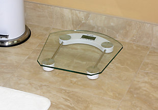 Home Accents Glass Bathroom Scale, , rollover