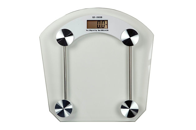 Home Accents Glass Bathroom Scale, , large