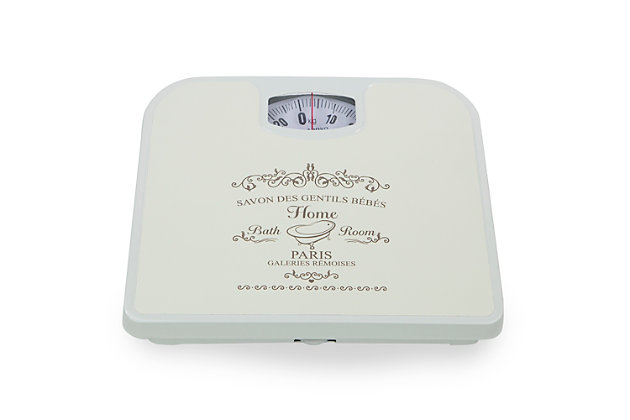 Home Accents Paris Mechanical Weighing Scale, White, large