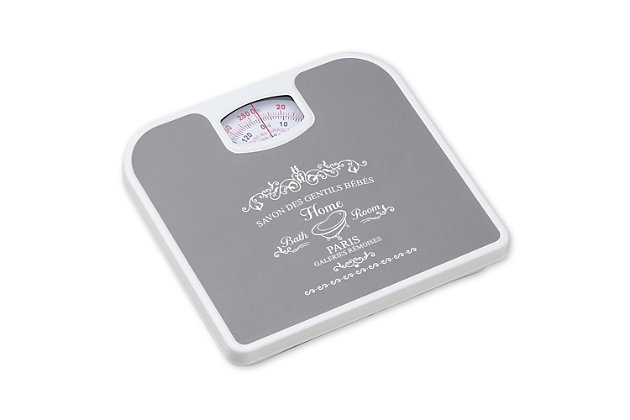 Home Accents Paris Mechanical Weighing Scale, Gray, large