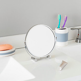 Home Accents Double Sided Tabletop and Countertop Portable Cosmetic Mirror, , rollover