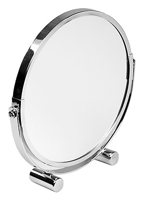 Home Accents Double Sided Tabletop and Countertop Portable Cosmetic Mirror, , large