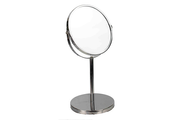 Home Accents Chrome Plated Steel Double Sided Mirror, , large