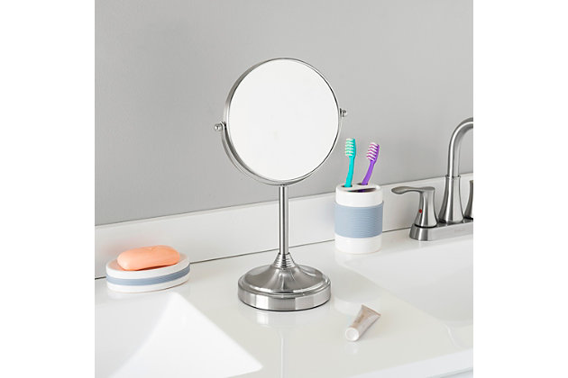 Home Accents Elizabeth Collection Cosmetic Mirror, Chrome, large