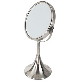 Home Accents Cosmetic Mirror with Shelled Base, , large