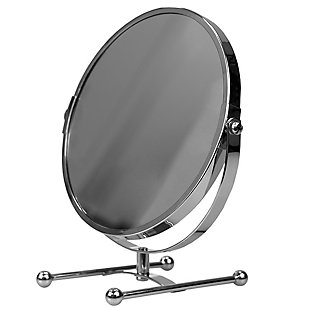 Home Accents Double Sided Countertop Cosmetic Mirror, , large