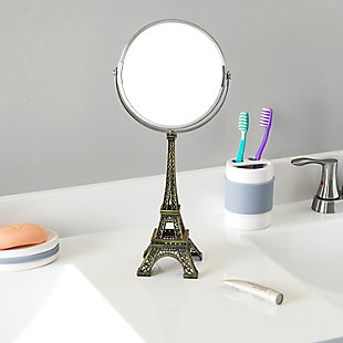 Home Accents Antique French Paris Eiffel Towel Double Sided Cosmetic Mirror, , rollover