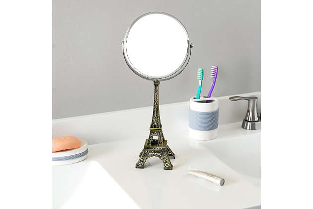 Home Accents Antique French Paris Eiffel Towel Double Sided Cosmetic Mirror, , large