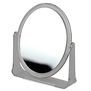 Home Accents Double Sided Tabletop and Countertop Mirror with Transparent Plastic Frame, , rollover