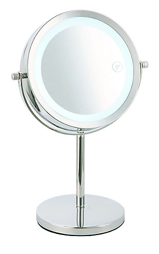 Home Accents Double Sided Tabletop and Countertop Mirror with Transparent Plastic Frame, , large