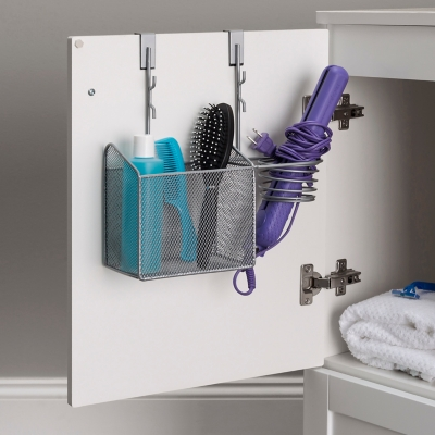 Home Accents Steel Over the Cabinet Hairdryer Organizer, , large
