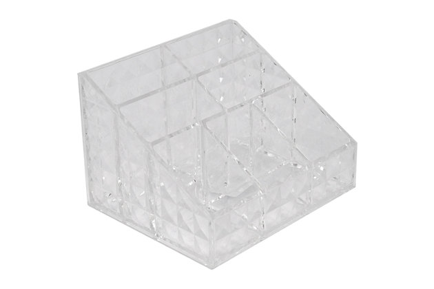 Home Accents Beveled Shatter-Resistant Plastic 7 Compartment Square Cosmetic Organizer, , large
