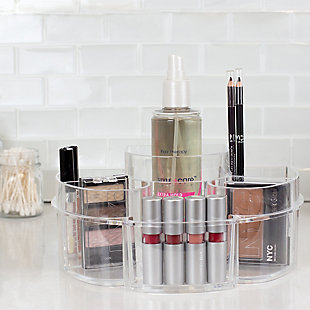 Home Accents Half Moon Shatter-Resistant Plastic Cosmetic Organizer, , rollover