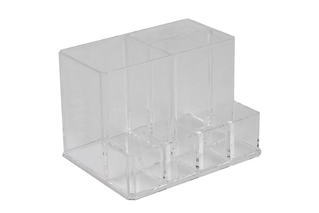 Home Accents Compact Shatter-Resistant Plastic Cosmetic Organizer, , large